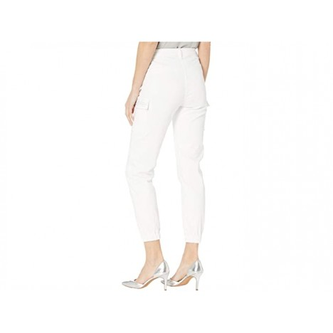 FDJ French Dressing Jeans Euro Twill Olivia Ankle Cargo Embellished Pockets in White