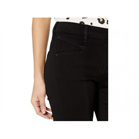 Liverpool Abby Seamed Ankle Skinny Cat Eye Pocket in The Perfect Black Denim in Black Rinse