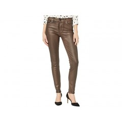 Paige Hoxton Ultra Skinny Jeans in Pearlized Copper Coating