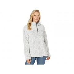 Dylan by True Grit Frosty Tipped Pile 1 4 Zip Stadium Pullover