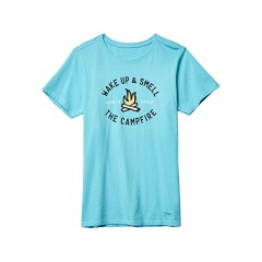 Life is Good Smell the Campfire Crusher Tee