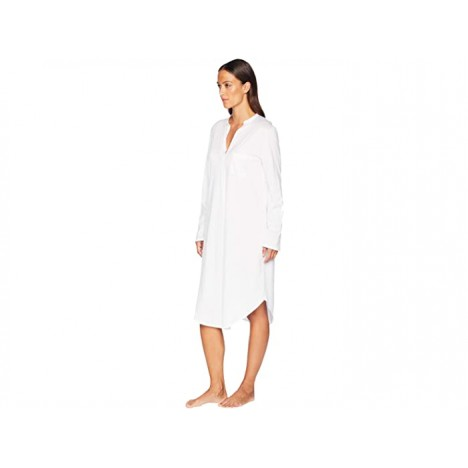 Hanro Cotton Deluxe Long Sleeve Gown