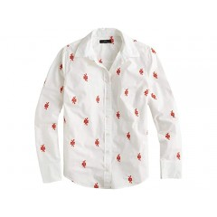 J.Crew Perfect Shirt with Embroidered Knots