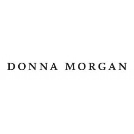 Donna Morgan Sleeveless Jumpsuit with Stretch Knit Crepe Pants and Printed Chiffon Halter top